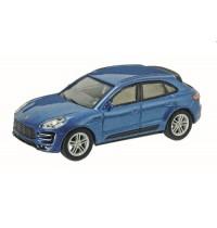 Schuco - Porsche Macan Turbo, blau metallic