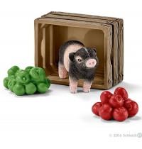 Schleich - World of Nature - Farm Life - Mini-Schwein mit Äpfeln