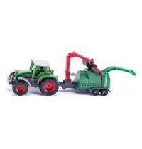 SIKU Super - Traktor mit Holzhäcksler