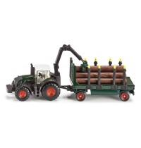 SIKU Farmer - Traktor mit Holzanhänger