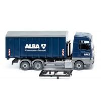 Wiking - Abrollcontainer Meiller/MAN TGX Euro 6 - Alba