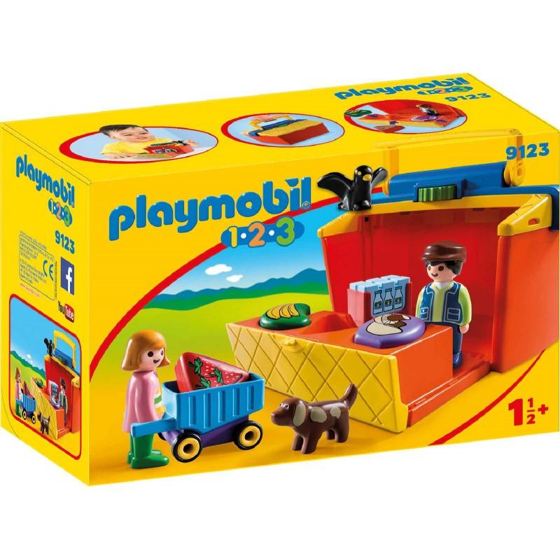 Playmobil® 9123 - 1.2.3. - Mein Marktstand zum Mitnehmen