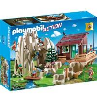 Playmobil® 9126 - Action - Kletterfels mit Berghütte