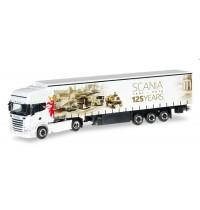 Herpa - Scania R 13 TL Gardinenplanen-Sattelzug 125 Jahre Scania