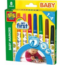 SES Creative - Baby Marker 8 Farben My first