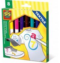 SES Creative - Textilstifte 8 Farben
