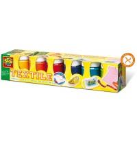 SES Creative - Textilfarben Trendy 6 Farben je 50ml
