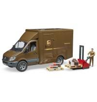 BRUDER - MB Sprinter UPS mit Fahrer und Zubehör