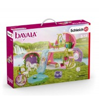 Schleich - World of Fantasy - Bayala - Glitzerndes Blütenhaus mit Einhörnern, See und Stall