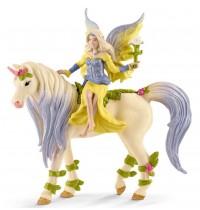 Schleich - World of Fantasy - Bayala - Sera mit Blüten-Einhorn