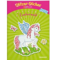 Tessloff - Glitzer-Sticker-Malbuch - Zauberwald