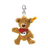 Steiff - Teddybären - Teddybären für Kinder - Schlüsselanhänger Knopf Teddybär, goldbraun, 11cm
