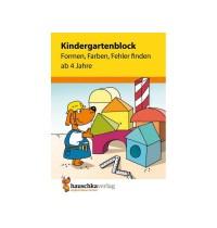 Kindergartenblock - Formen, Farben, Fehler finden ab 4 Jahren