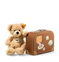 Steiff - Teddybären - Teddybären für Kinder - Fynn Teddybär im Koffer, beige, 28cm