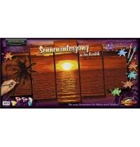 Schipper Arts & Crafts - Meisterklasse Polyptychon - Profi-Edition - Sonnenuntergang in der Karibik