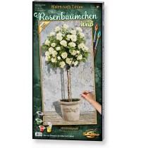 Schipper Arts & Crafts - Rosenbäumchen Weiß