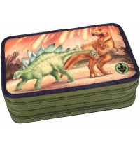 Depesche - Dino World 3-fach Federtasche LED