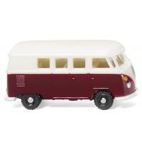 Wiking - VW T1 Bus - weinrot/weiß