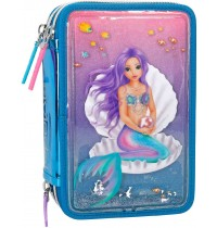 Depesche - Fantasy Model - 3fach Federtasche Liquid MERMAID