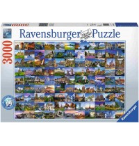 Ravensburger Spiel - 99 Beautiful Places in Europe, 3000 Teile