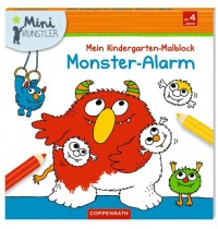 Coppenrath Verlag - Mini-Künstler- Mein Kindergarten-Malblock - Monster-Alarm