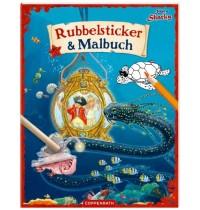 Coppenrath Verlag - Käpt&apos - n Sharky: Rubbelsticker &amp -  Malbuch