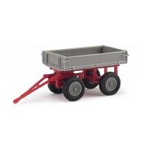 Busch Automodelle - Mehlhose: Anhänger/E-Karre, Grau/Rot