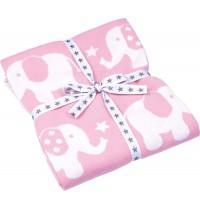 Die Spiegelburg - Baby Glück - Strickdecke Elefant, rosa