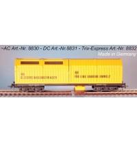 H0 DC Gleisstaubsaugerwagen DC mit Faulhaber-Motor und Steuerelektronik SSF-09 (analog + digital) Hersteller: Lux-Modellbau