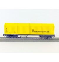H0 DC Schienenpolierwagen DC mit Faulhabermotor, Akkustation und Steuerelektronik SSF-09 Hersteller: Lux-Modellbau