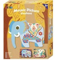Avenir - Mosaic Picture Elephant