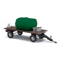 Busch Modellbahnzubehör - Anhänger mit Wassertank und Zinkwanne