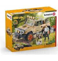 Schleich - World of Nature - Wild Life - Geländewagen mit Seilwinde
