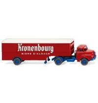 Wiking - Koffersattelzug (Saviem) Kronenbourg
