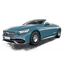 1:18 Mercedes-Maybach S650 Cabriolet 2018 - Blue metallic