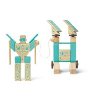 Tegu - Magnetisches Holzset Magbot, 9 Teile