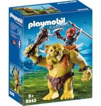 Playmobil® 9343 - Knights - Zwergenangriff - Riesentroll mit Zwergenrucksack
