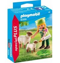 Playmobil® 9356 - Special Plus - Bäuerin mit Schäfchen