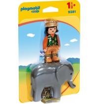 Playmobil® 9381 - 1.2.3. - Tierpfleger mit Elefant