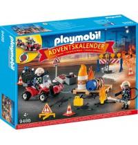 Playmobil® 9486 - Christmas - Adventskalender Feuerwehreinsatz auf der Baustelle