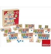 Jumbo Spiele - Goula Holzspiel Zahlen 1 bis 10
