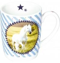 Die Spiegelburg - Pferdefreunde - Porzellan-Tasse Pferdemedaille