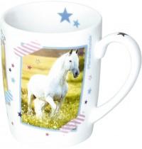 Die Spiegelburg - Pferdefreunde - Porzellan-Tasse Pferde Notes
