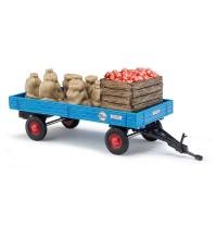 Busch Modellbahnzubehör - Anhänger mit Apfelladung