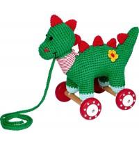 Die Spiegelburg - BabyGlück - Dino auf Holzrollen