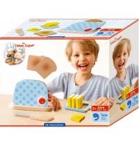 Die Spiegelburg - Die Lieben Sieben - Schneide-Set Toaster (Holz)