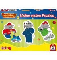 Schmidt Spiele - Benjamin Blümchen - Meine ersten Puzzles, 6 x 3 Teile