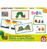 Schmidt Spiele - Die kleine Raupe Nimmersatt - Meine ersten Puzzles, 9 x 2 Teile