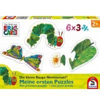 Schmidt Spiele - Die kleine Raupe Nimmersatt - Meine ersten Puzzles, 6 x 3 Teile