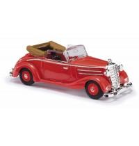 Busch Modellbahnzubehör - Mercedes 170S Cabrio offen, Rot
